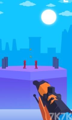《狙击小红人无敌版》游戏画面1