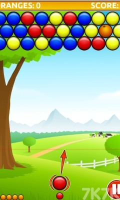 《橘子泡泡龙》游戏画面1