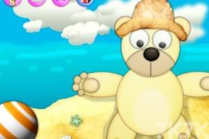 《泰迪熊沙滩换装》游戏画面1