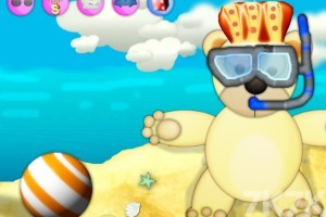 《泰迪熊沙滩换装》游戏画面2